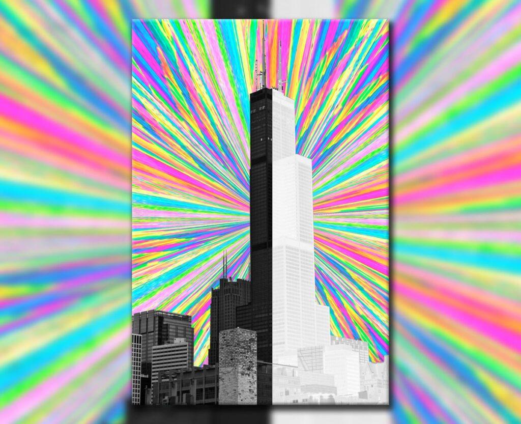 Sear Tower on Acid, 2019. Digital.